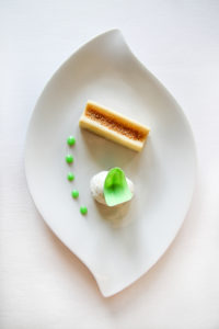 Le dessert glacé à l'Auberge du Rohan à meucon